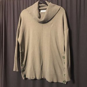 Cynthia Rowley Cowl Neck Sweater olive green